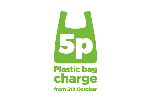 The 5p bag logo was used throughout the campaign.