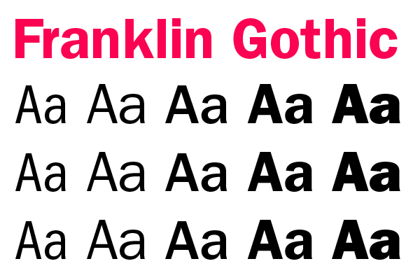 Franklin Gothic typeface