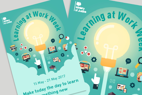Poster to promote MoJ Learning at Work Week