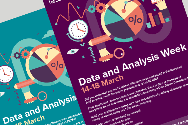 Posters to promote MoJ Data and Analysis Week
