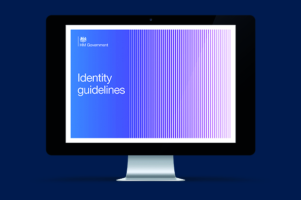 The front cover of the current HM Government identity guidelines.